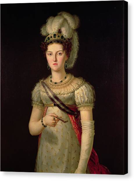 Ostriches Canvas Print - Portrait Of Maria Josephine Amalia Of Saxony by Francisco Lacoma