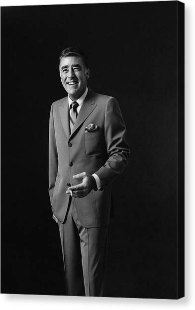 Portrait Of Peter Lawford Canvas Print by Leonard Nones