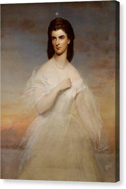 Mount Etna Canvas Print - Portrait Of Queen Maria Sophia Of Naples by Franz Xaver Winterhalter