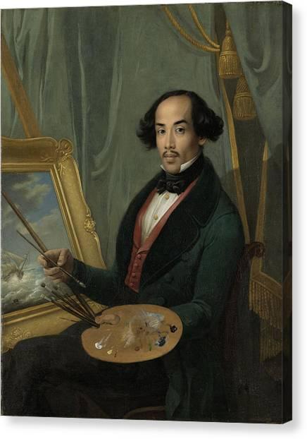 Portrait Of Raden Syarif Bustaman Saleh, Attributed Canvas Print by Quint Lox