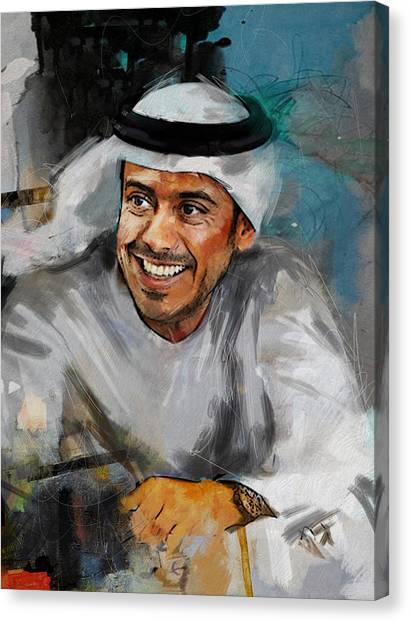 Emir Canvas Print - Portrait Of Sheikh Sultan Bin Tahnoon Al Nahyan by Maryam Mughal