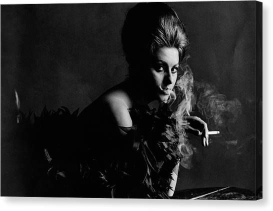 Boa Constrictor Canvas Print - Portrait Of Sophia Loren by Bert Stern