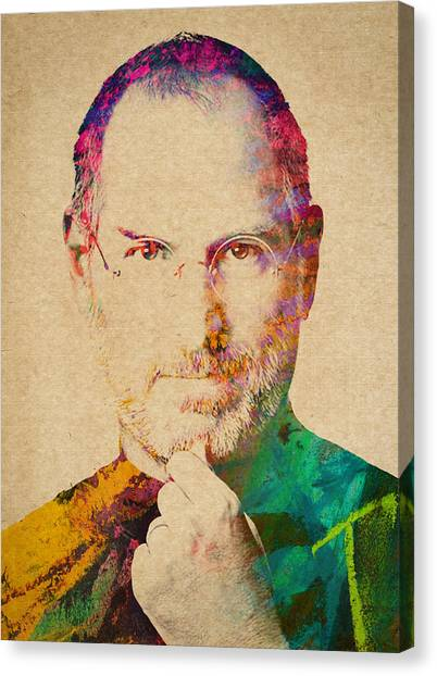 Mac Canvas Print - Portrait Of Steve Jobs by Aged Pixel