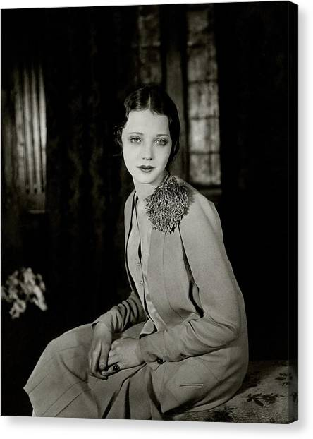 Pom-pom Canvas Print - Portrait Of Sylvia Sidney by Florence Vandamm