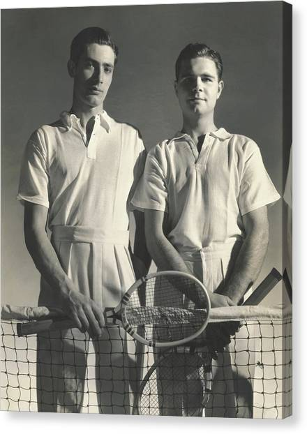 Portrait Of Tennis Players Canvas Print