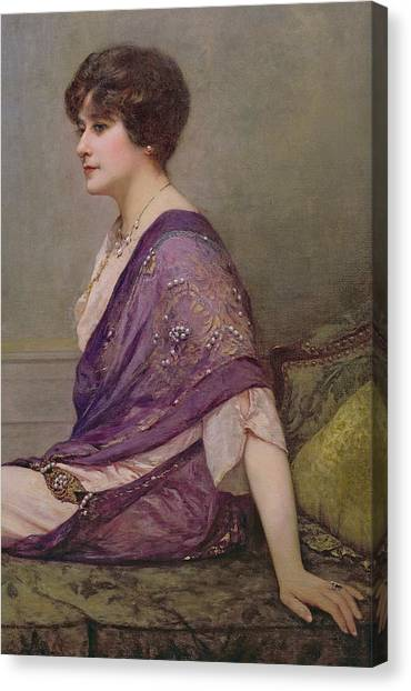 Designing Canvas Print - Portrait Of Th Ecourturier Madame Paquin by Henri Gervex