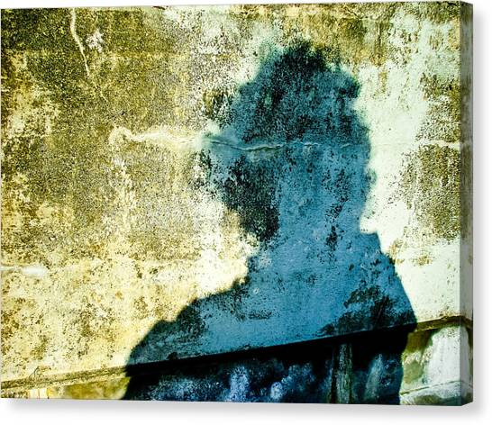 Portrait Of The Artist As Shadow 3 Canvas Print by Ronda Broatch
