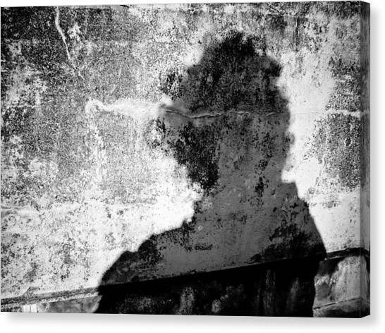 Portrait Of The Artist As Shadow 6 Canvas Print by Ronda Broatch