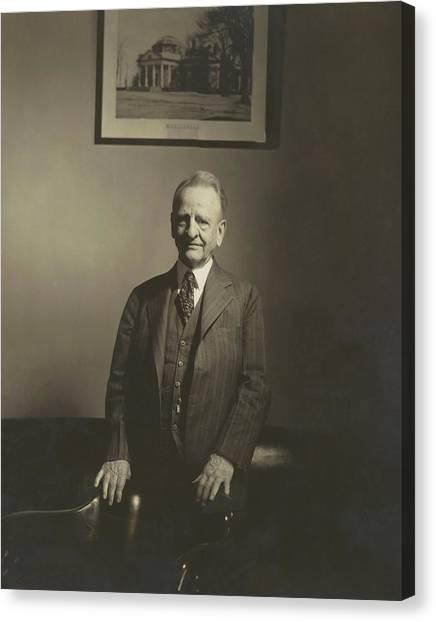 Portrait Of U.s. Congressman Canvas Print by Edward Steichen
