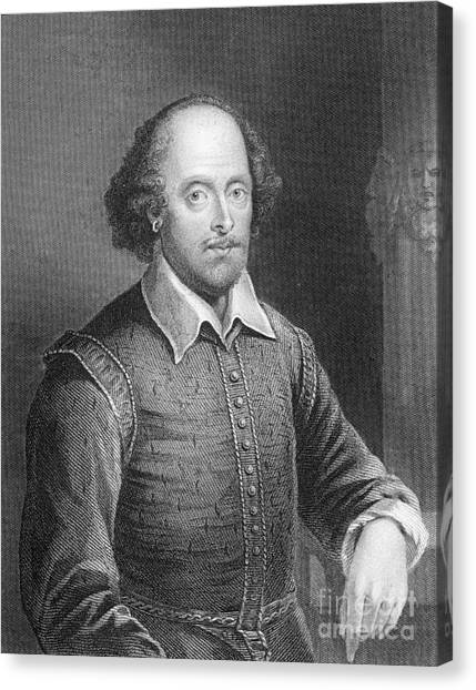 Shakespeare Canvas Print - Portrait Of William Shakespeare by English School