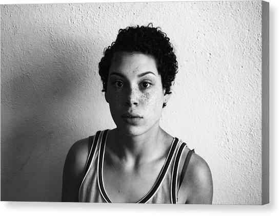 Portrait Of Young Woman Canvas Print by Talia Ali / Eyeem