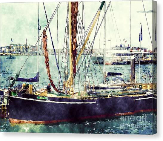 Portsmouth Harbour Boats Canvas Print