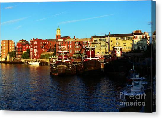 Portsmouth In The Afternoon Canvas Print