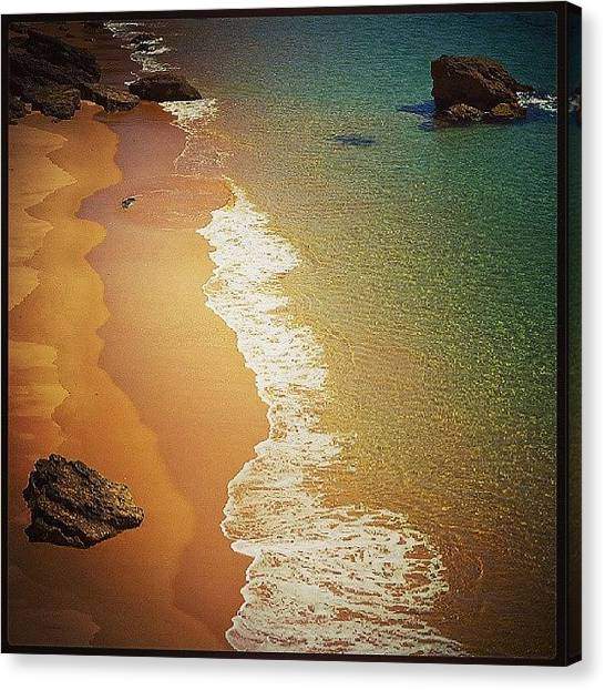 Beach Sunrises Canvas Print - Portugal by Raimond Klavins