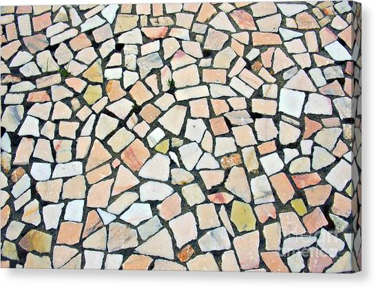 Brick Sidewalks Canvas Print - Portuguese Pavement by Carlos Caetano