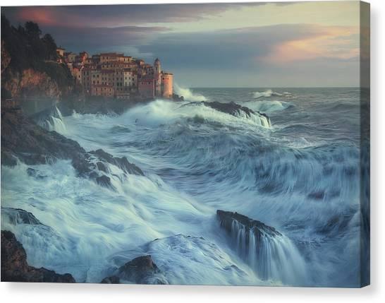Storm Clouds Canvas Print - Poseido Awakens by Paolo Lazzarotti
