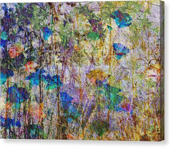 Posies In The Grass Canvas Print