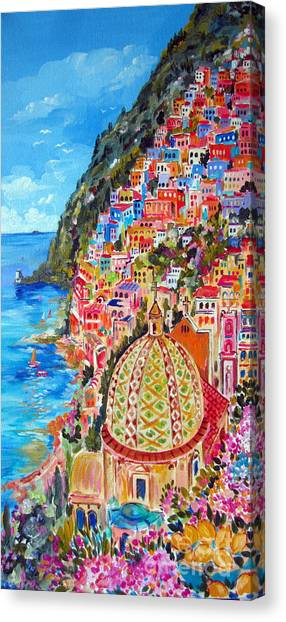 Positano Pearl Of The Amalfi Coast Canvas Print