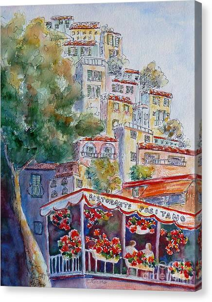 Positano Restaurant Canvas Print