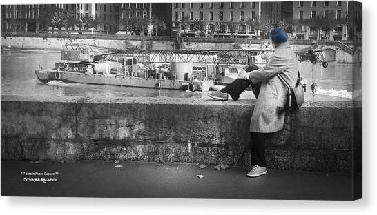 Canvas Print featuring the photograph Positive Meditation On The River by Stwayne Keubrick