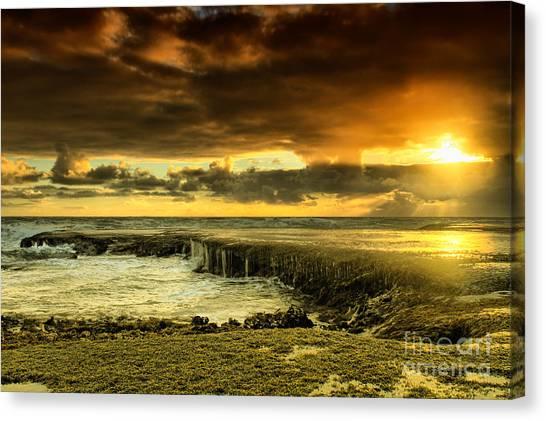 Ocean Sunsets Canvas Print - Positive Reinforcement by Andrew Paranavitana