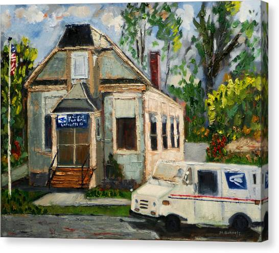 Post Office At Lafeyette Nj Canvas Print
