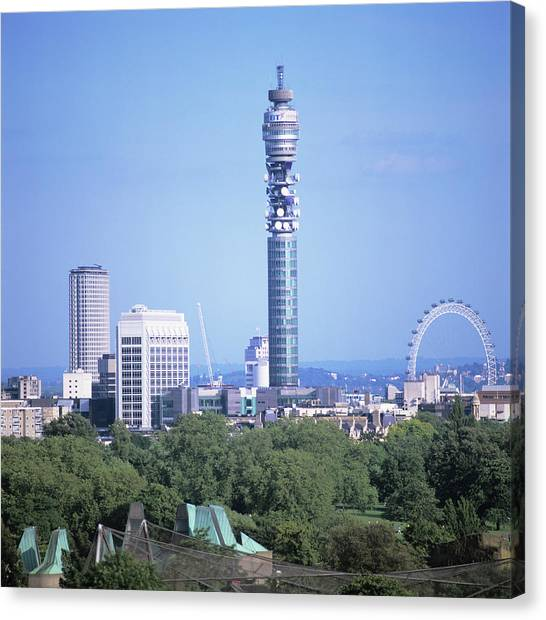 London Eye Canvas Print - Post Office Tower by Mark Thomas/science Photo Library