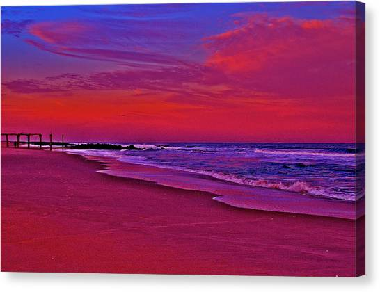 Post Sandy Pier Canvas Print