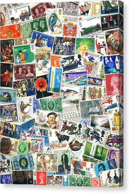 Salvation Army Canvas Print - Postage Stamp Collection by Steve Allen/science Photo Library