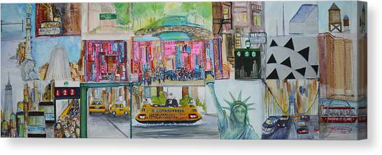 Apollo Theater Canvas Print - Postcards From New York City by Jack Diamond