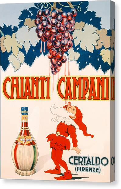 Bar Canvas Print - Poster Advertising Chianti Campani by Necchi