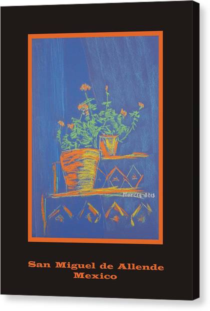 Poster - Blue Geranium Canvas Print by Marcia Meade