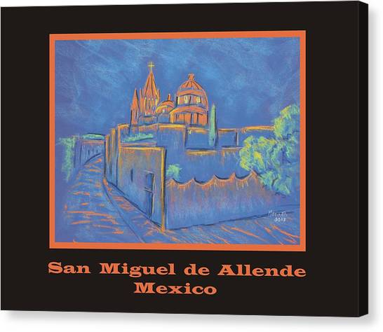Poster - Cobblestone To The Basilica Canvas Print by Marcia Meade