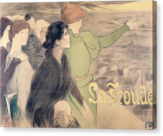 Feminist Canvas Print - Poster For La Fronde by Clementine Helene Dufau