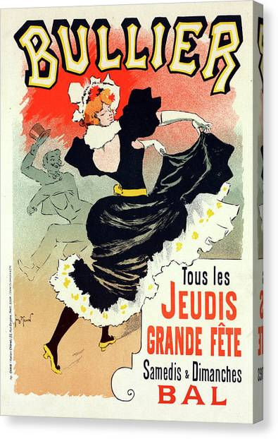 Influence Canvas Print - Poster For Le Bal Bullier. Meunier, Georges 1869-1942 by Liszt Collection