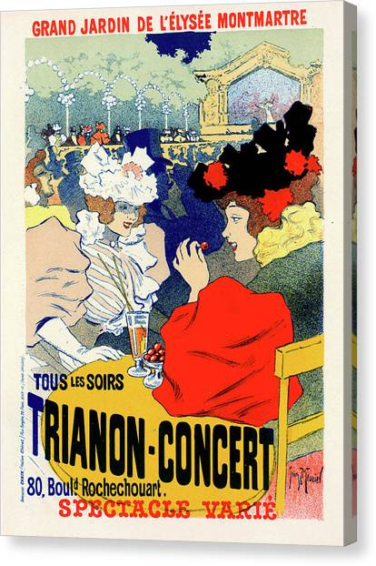 Influence Canvas Print - Poster For Trianon-concert. Georges Meunier by Liszt Collection