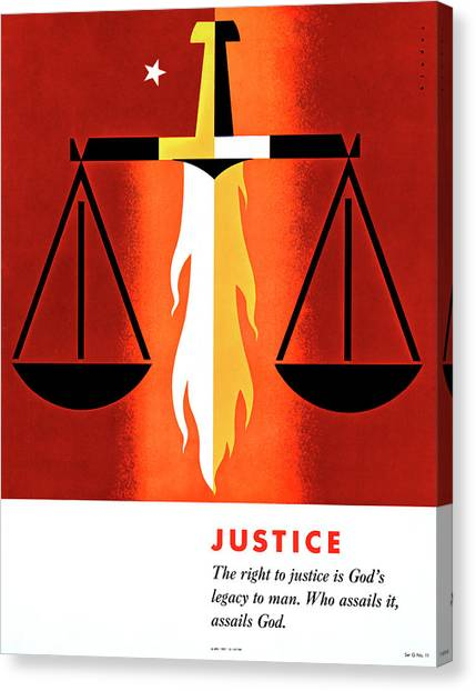 Binders Canvas Print - Poster Justice, 1957 by Granger
