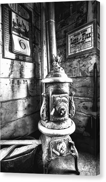 Pot Belly Stove Canvas Print