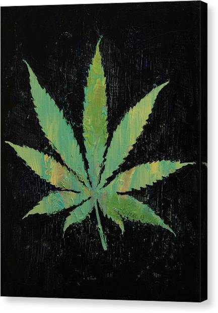 Marijuana Canvas Print - Pot Leaf by Michael Creese
