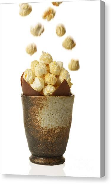 Popcorn Canvas Print - Pot Of Popcorn by Amanda Elwell