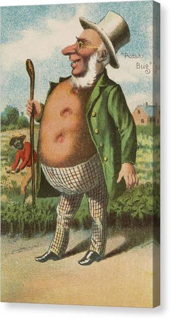 Vegetable Garden Canvas Print - Potato Bug by Aged Pixel
