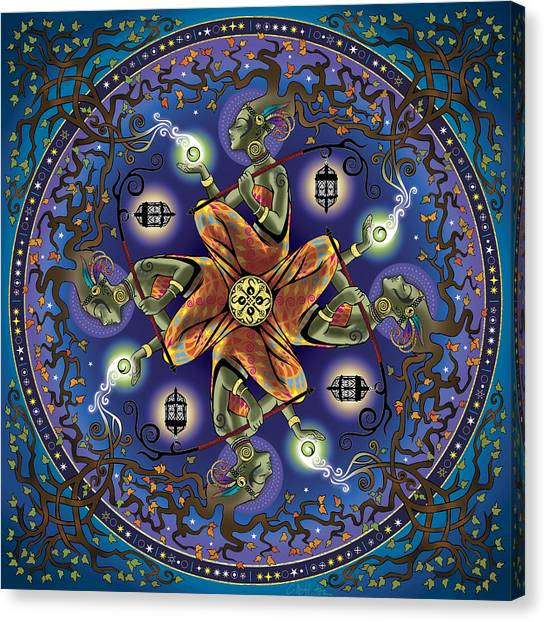 Meditate Canvas Print - Potential Mandala by Cristina McAllister