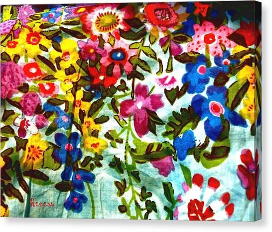 Potpourri Flowers Canvas Print