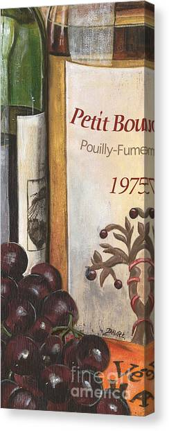 White Wine Canvas Print - Pouilly Fume 1975 by Debbie DeWitt