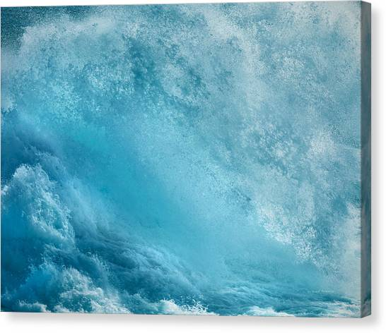 Pounding Waves Canvas Print by Leland D Howard