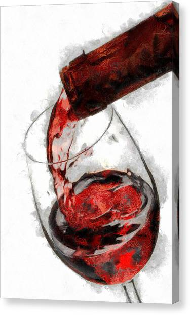 Pouring Red Wine Canvas Print