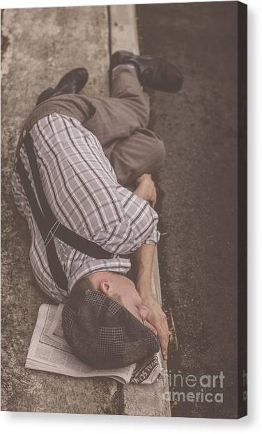 Braces Canvas Print - Poverty Stricken Newspaper Boy by Jorgo Photography - Wall Art Gallery