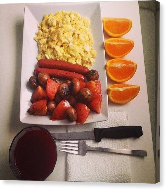 Canvas Print - Power Breakfast To Start Off The by Big Brother