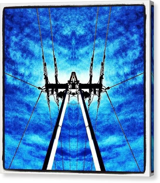 Symmetrical Canvas Print - Power Distribution by Caseofinstagram