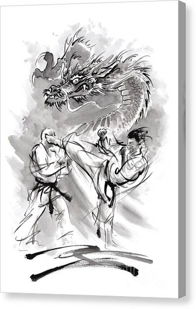 Karate Canvas Print - Power. by Mariusz Szmerdt